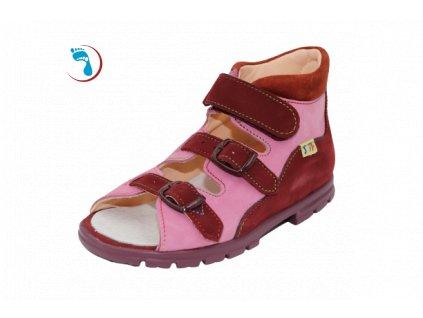 Dětské sandály supinační BOKOR, vyšší patní modul / vyšší nárt
