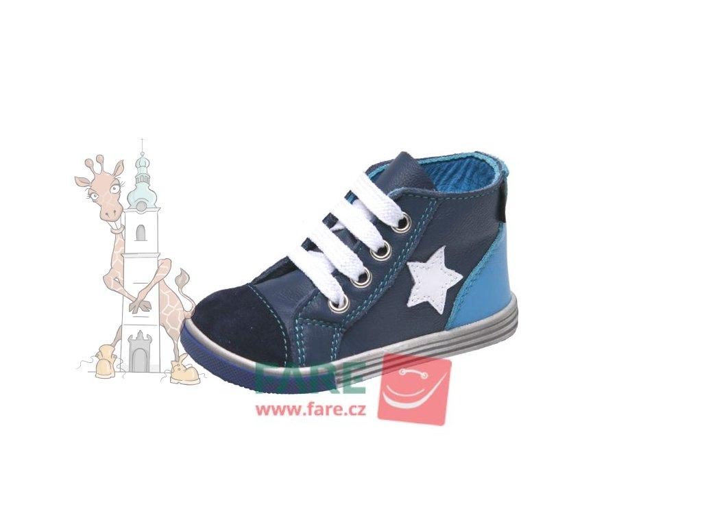 Dětské celoroční kožené kotníkové boty 2151105