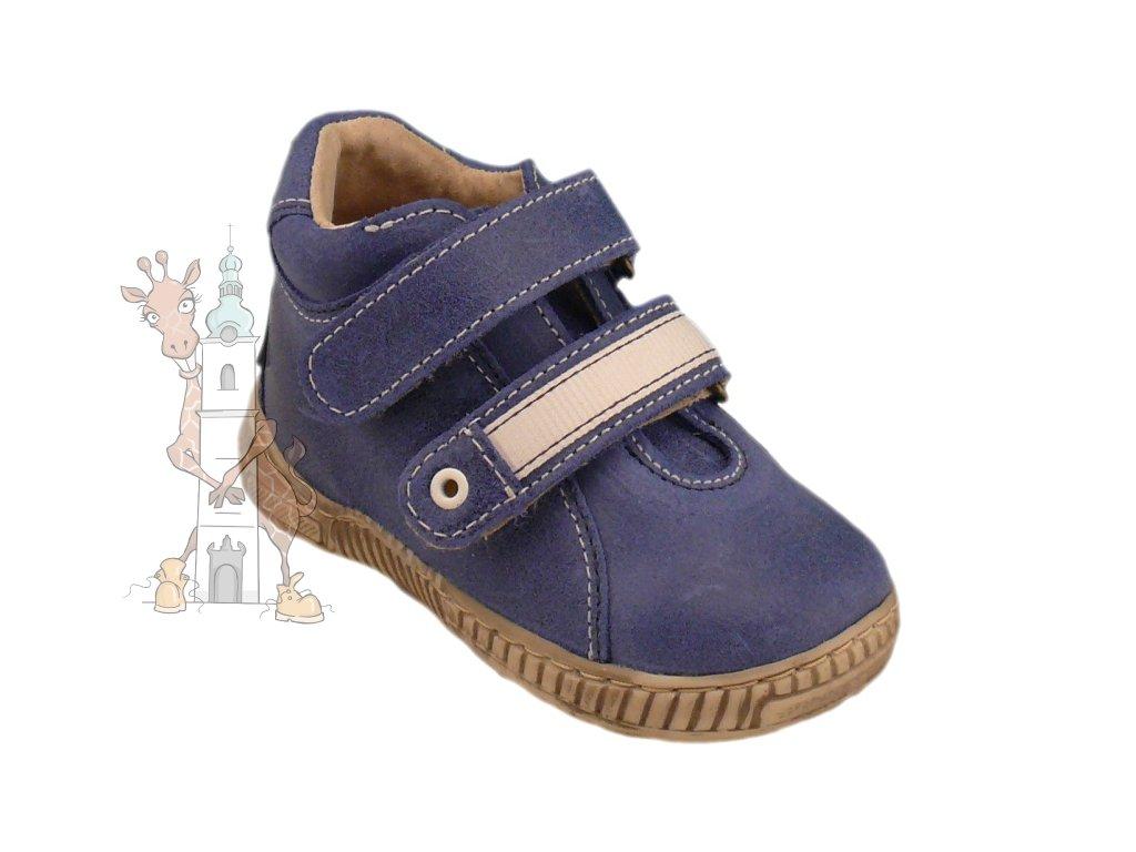 Dětské celoroční kožené boty Pegres 1404