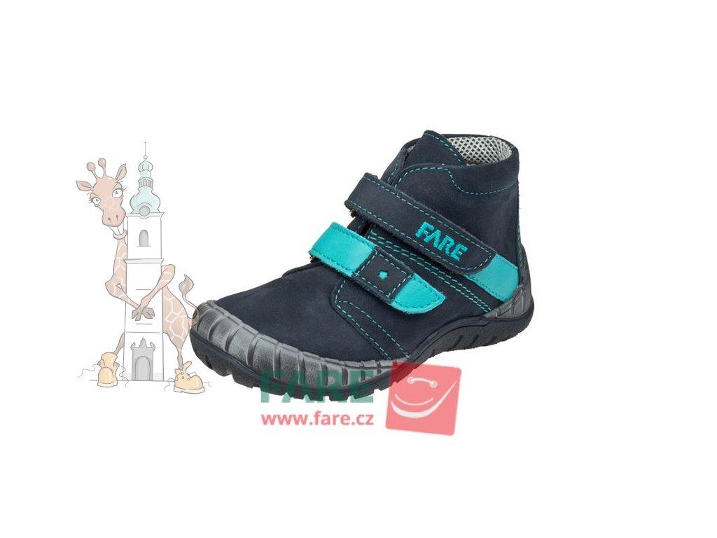 Dětské celoroční kožené boty Fare 820202