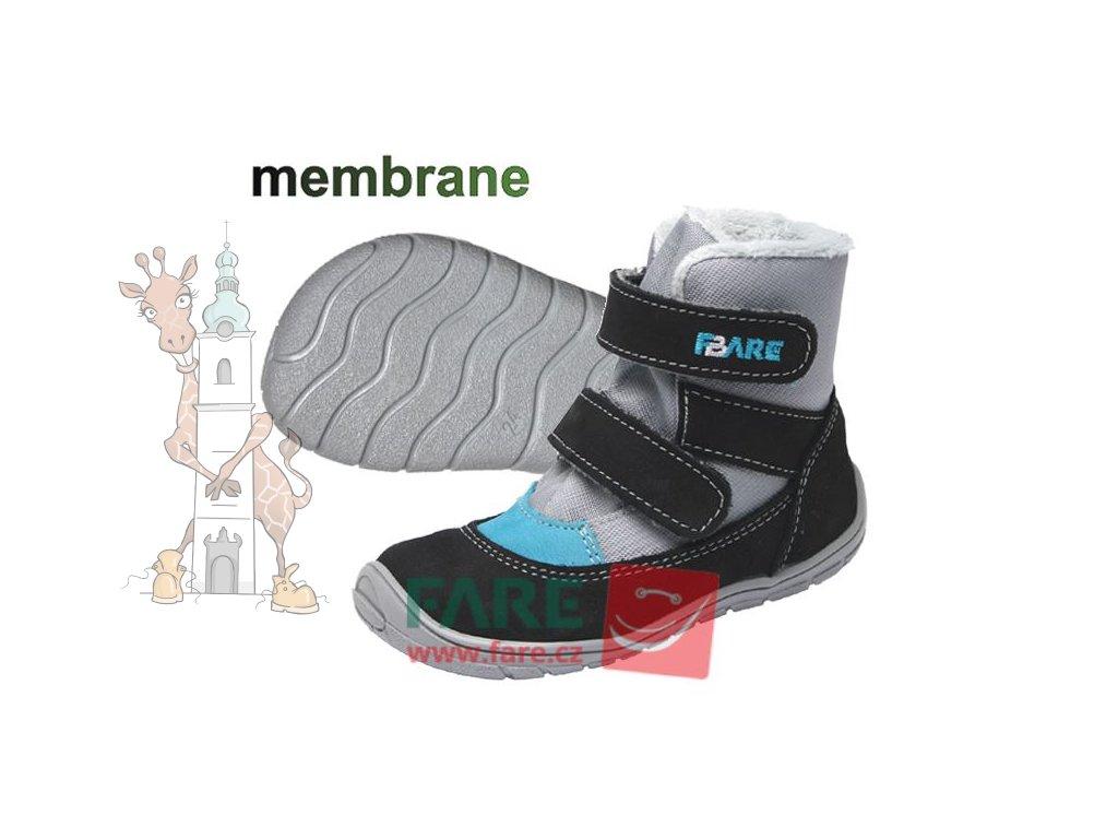 Fare bare dětské zimní nepromokavé boty 5241201