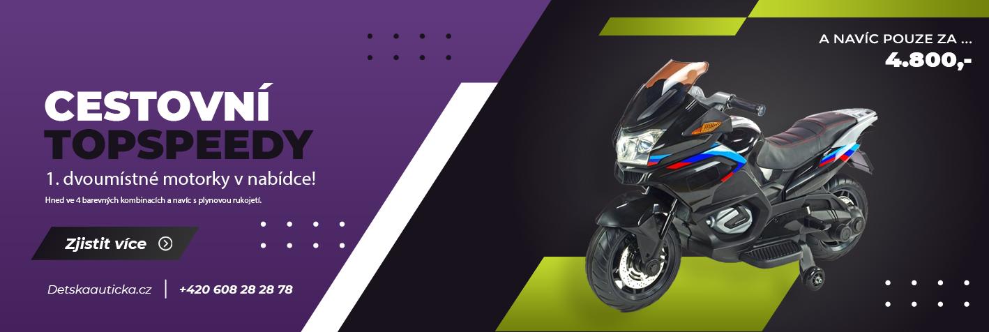 Dvoumístné elektrické motorky Topspeed