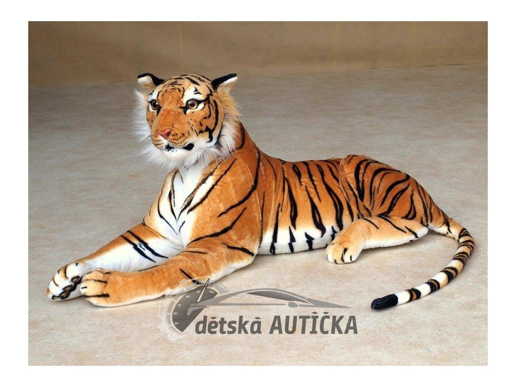 Velký plyšový tygr délky 170cm, oranžový