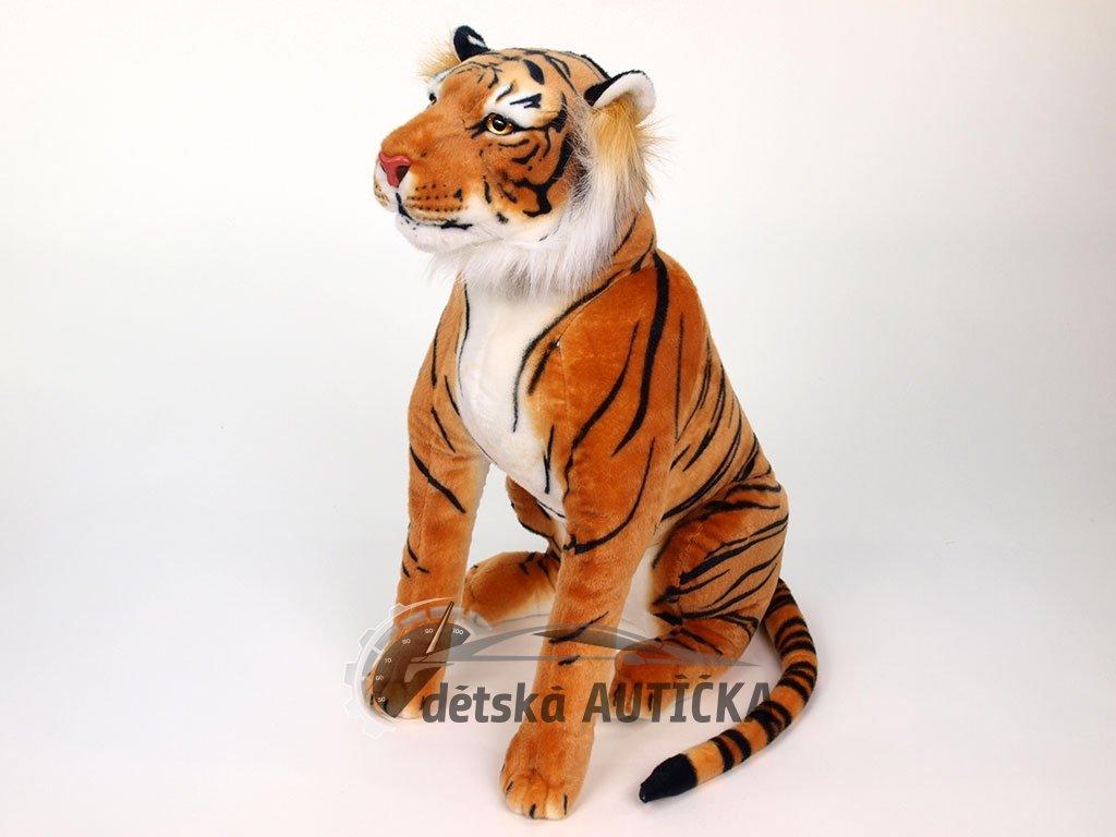 Plyšový tygr sedící, výška 70 cm, oranžový