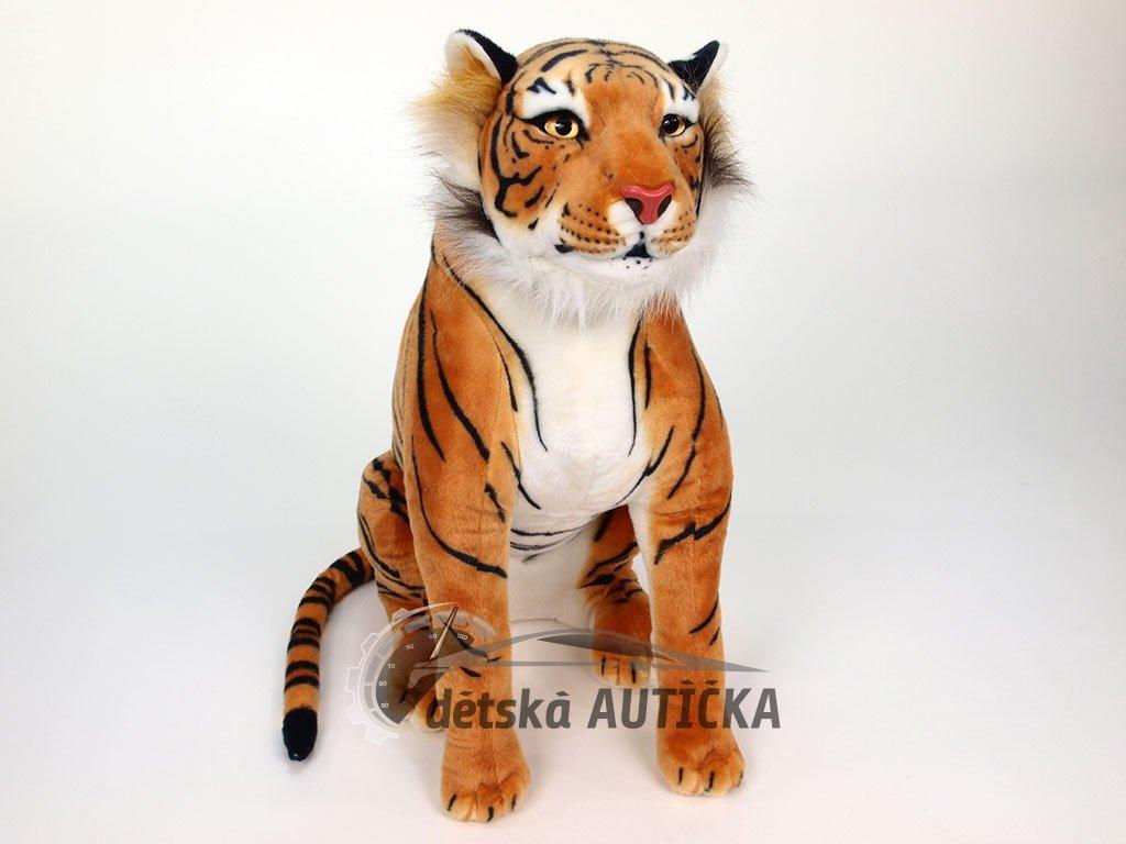 Plyšový sedící tygr ORANŽOVÝ, 70cm
