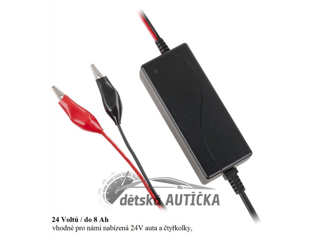Nabíječka gelových a olověných baterií 24V s LED diodou nabití baterie, Vipow 1135