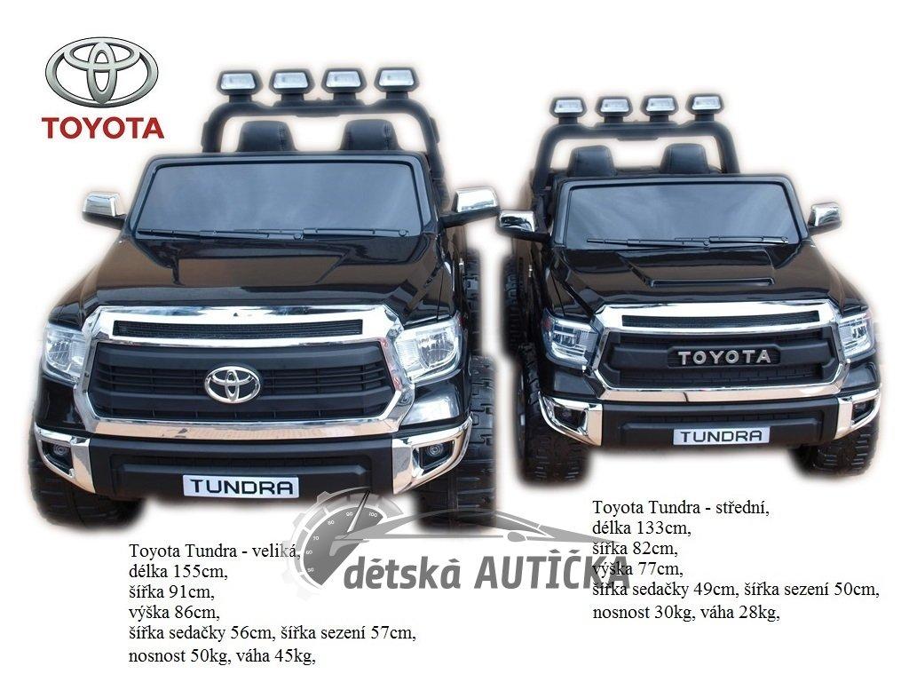 Foto pro porovnání velikostí Toyota Tundra 24V největší elektrické auto za 12200,- Kč + Toyota Tundra 12V střední velikost za 7
