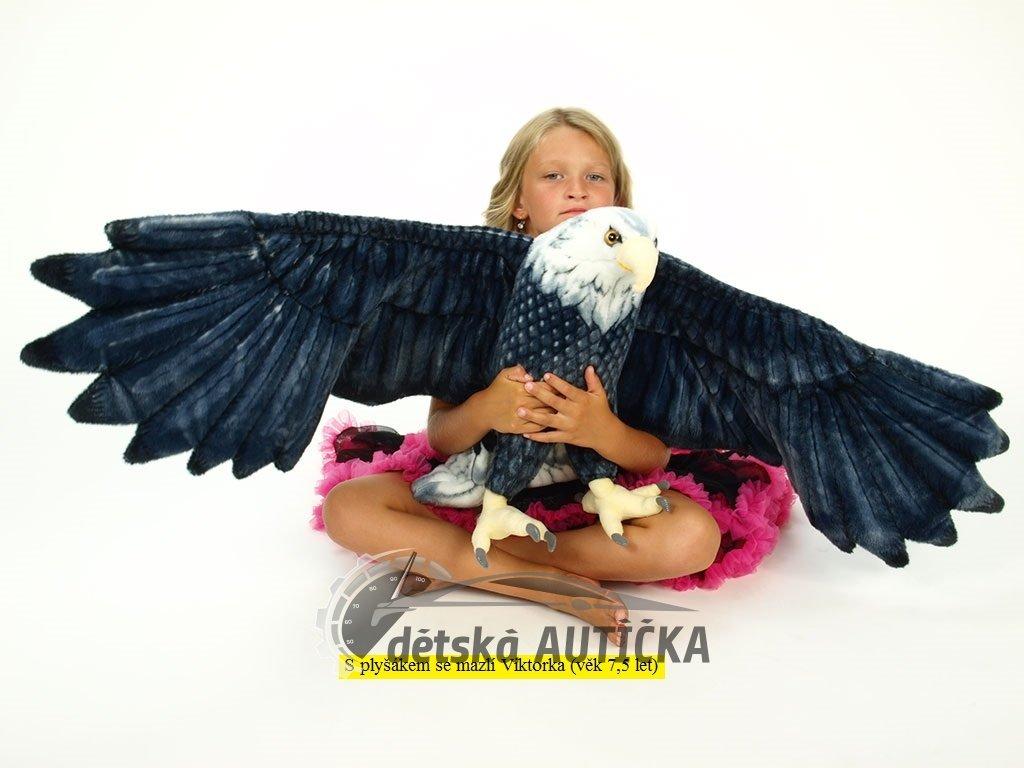 Plyšový orel s roztaženými křídly, rozpětí křídel 150 cm,