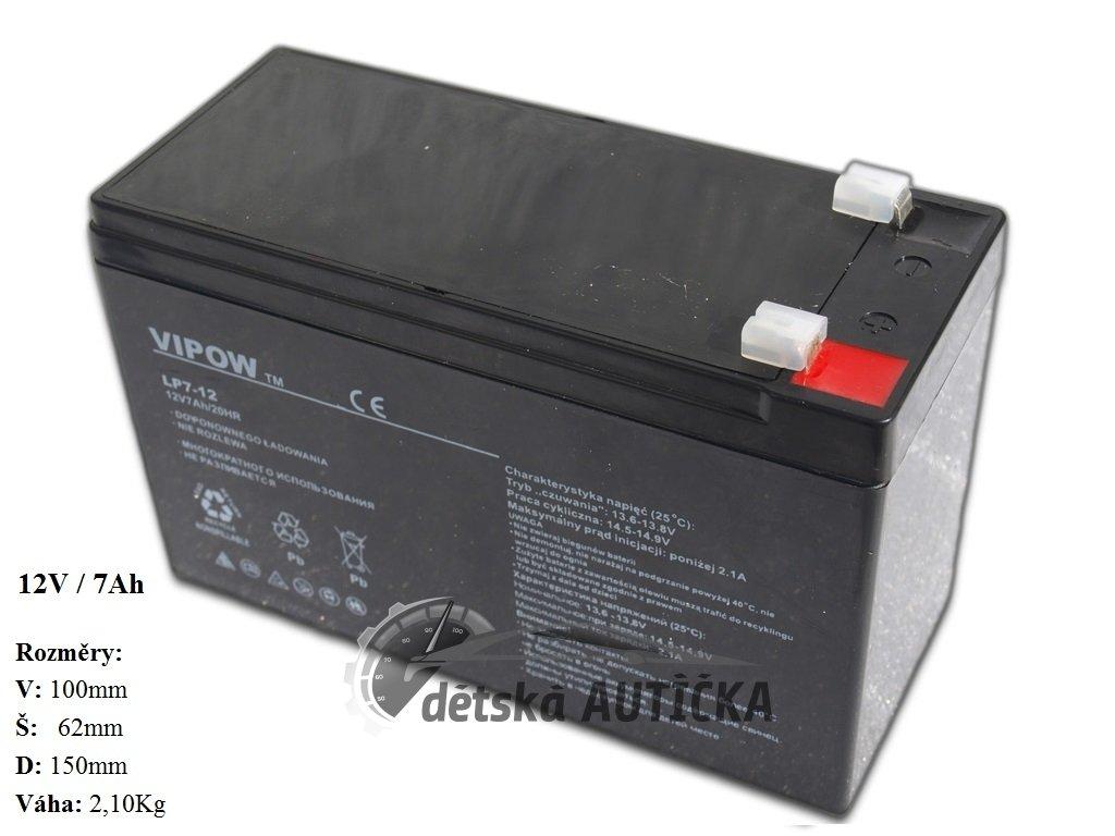 Gelová nabíjecí baterie 12V - 7Ah/ 20HR,