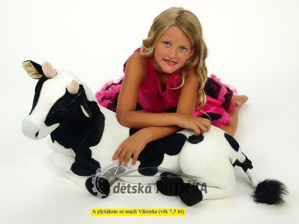 Ležící plyšová kráva, délka 87 cm