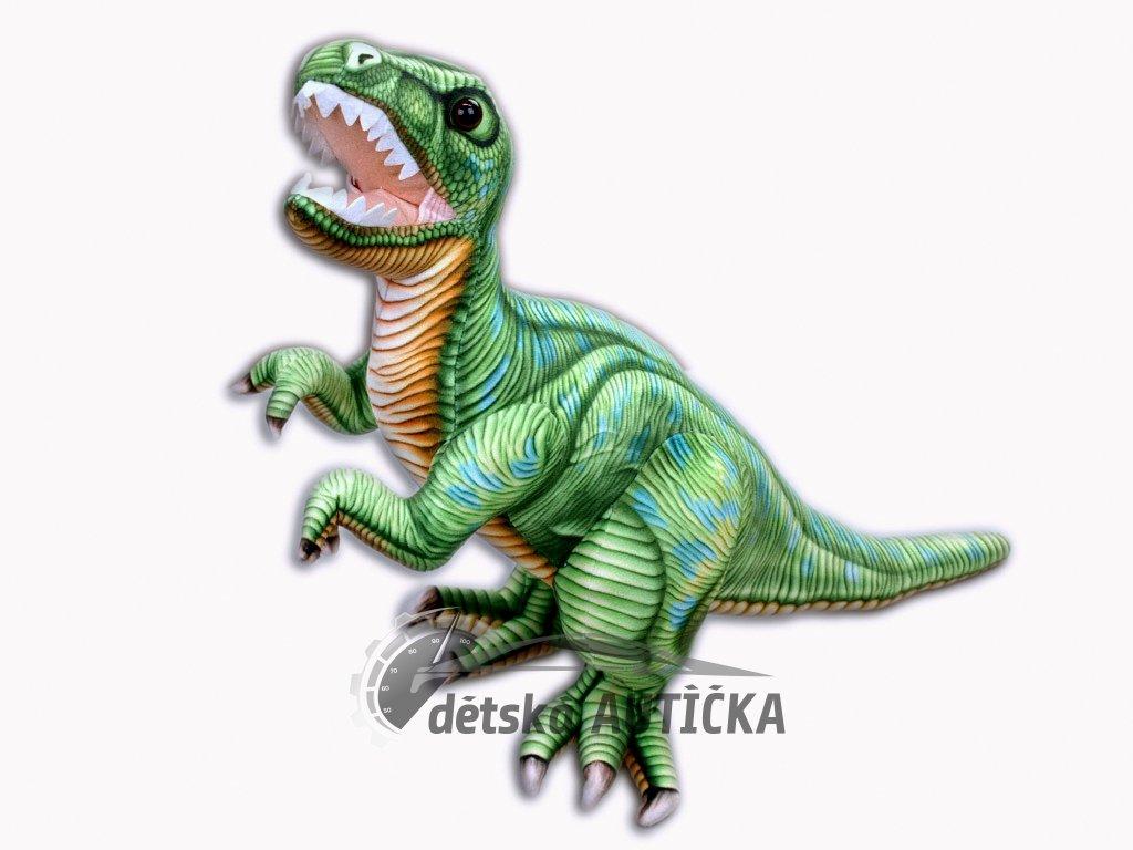 Plyšový stojící dinosaurus Tyranosaurus Rex, výška 48 cm, délka 70 cm, střední,