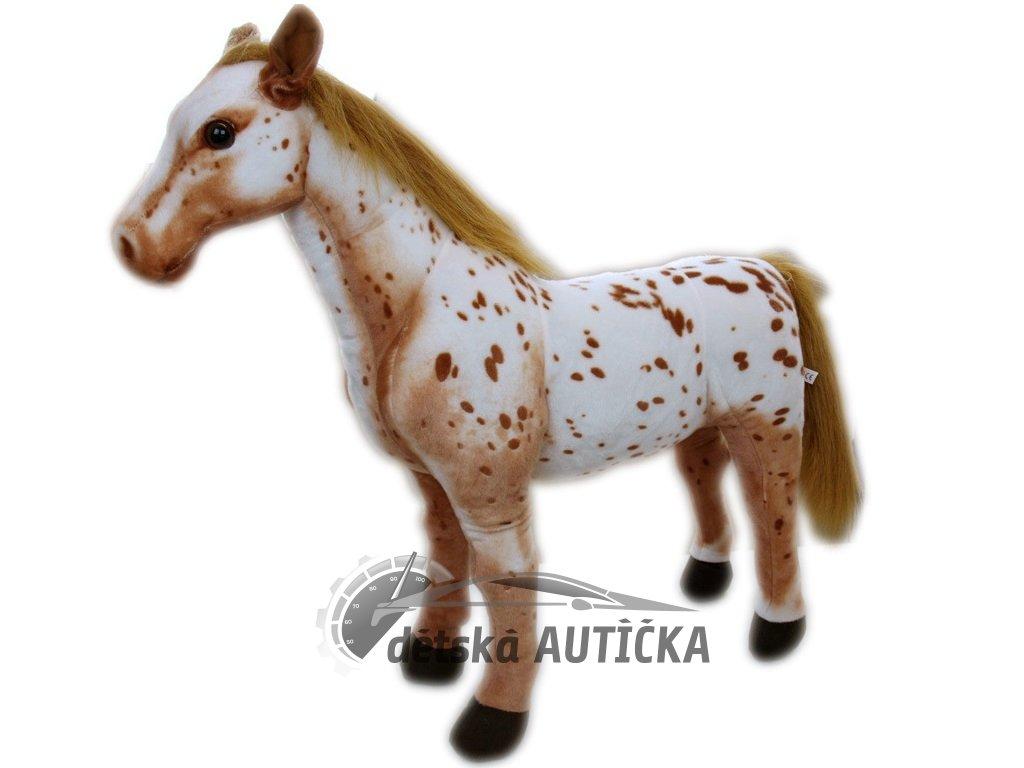 Krásný plyšový koník Appaloosa, mazlíček dětí, 78cm