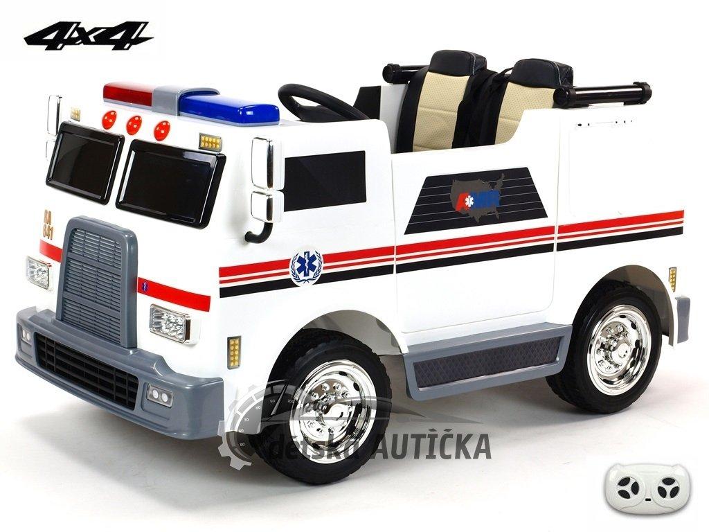 Elektrické auto dvoumístná USA ambulance 4x4