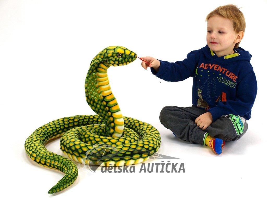 Velká plyšová kobra, délka 280 cm,
