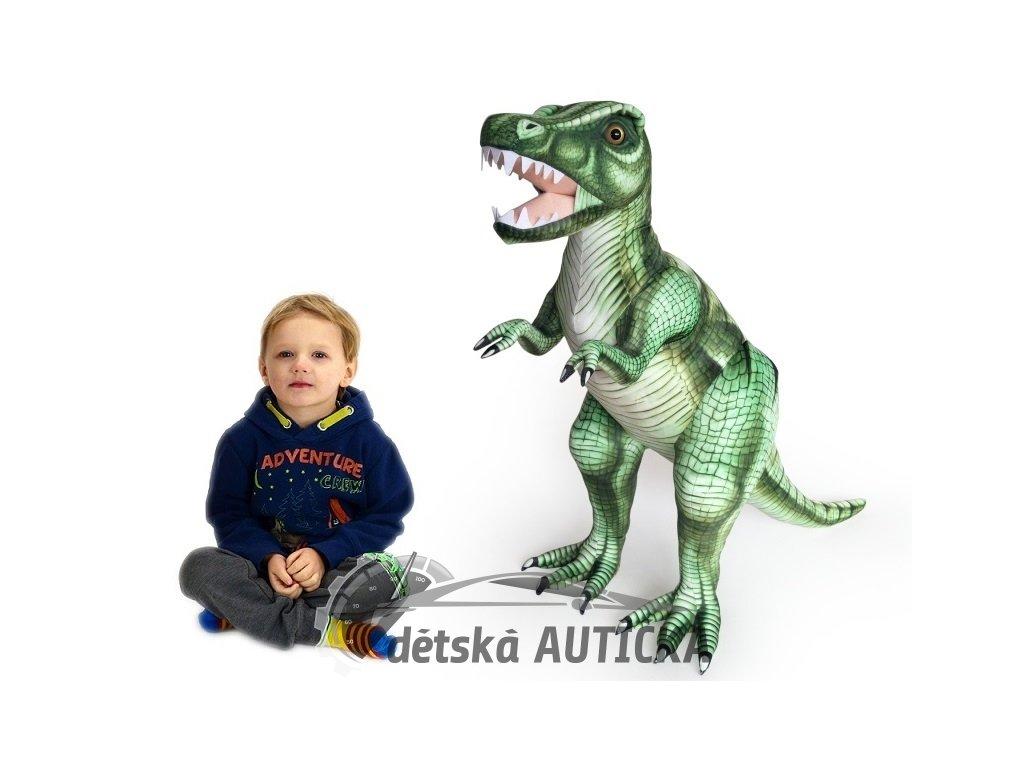 Plyšový stojící dinosaurus Tyranosaurus Rex, výška 80cm, délka 128cm, velký