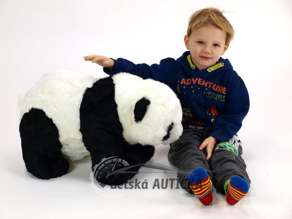 Stojící plyšová panda, délka 58 cm