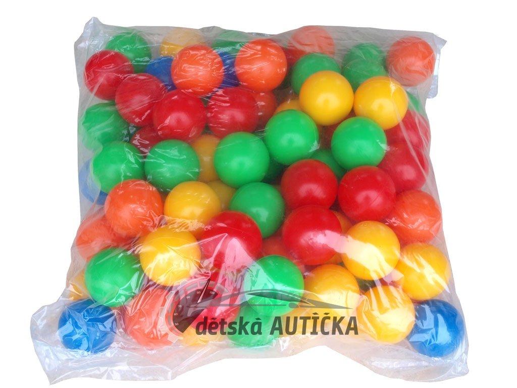 Sada 100 ks různobarevných pestrých měkčených míčku 75mm
