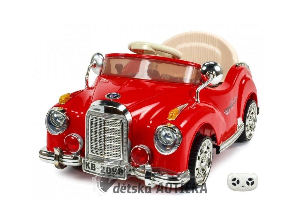 Elektrické autíčko Kuba Retro mini, červené