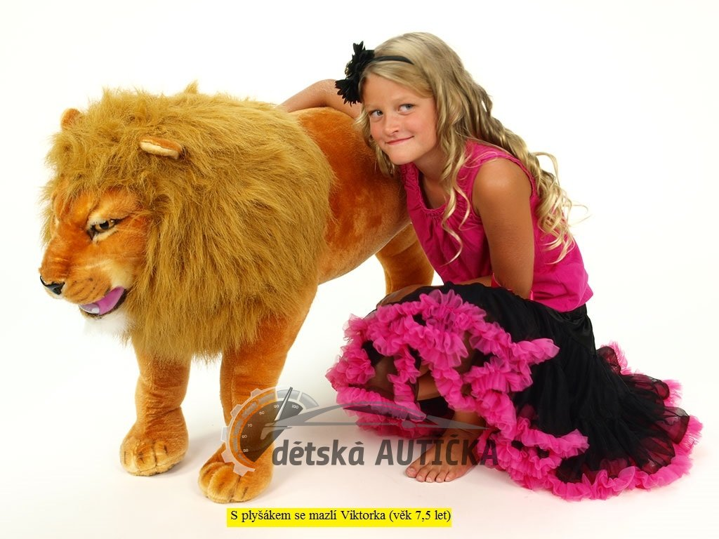 Plyšový stojící lev, délka 178cm, výška 66cm