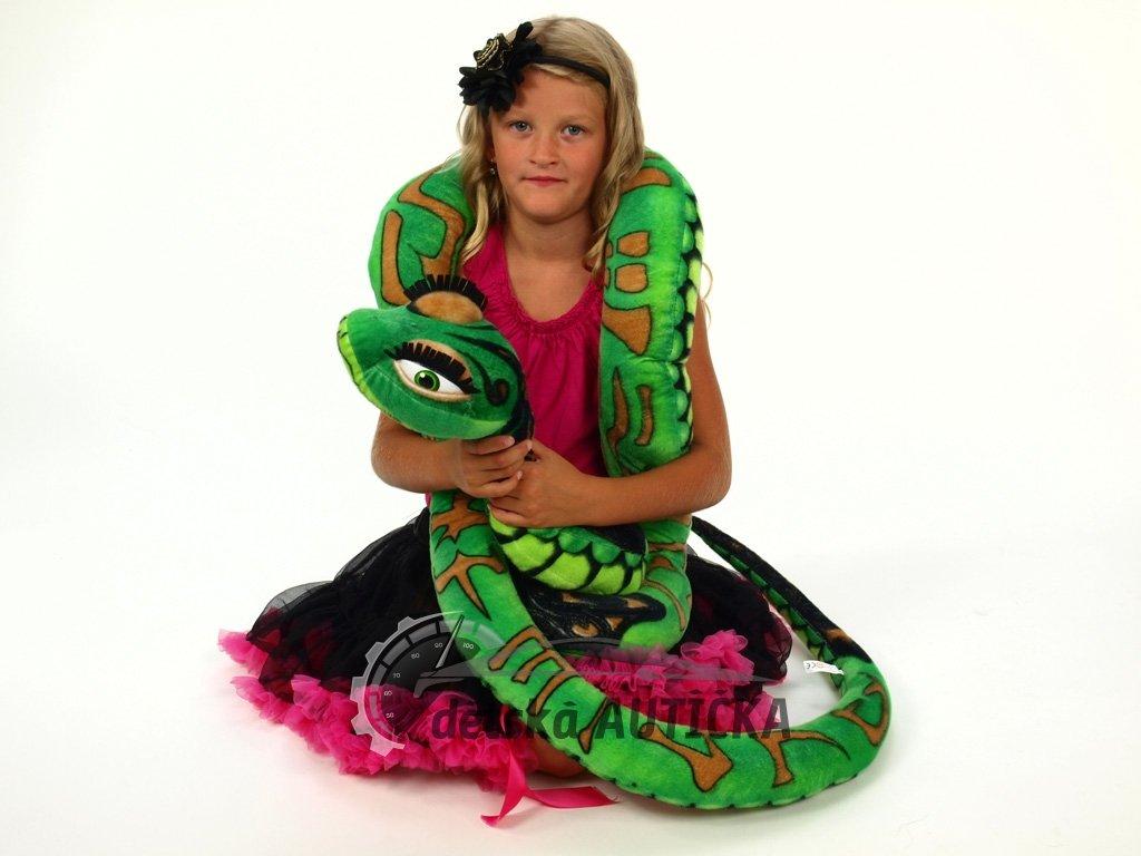 Velký plyšový had, délka 300cm