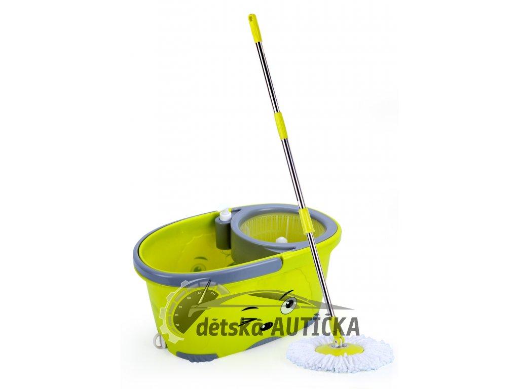 Rotační mop 360°, máchání + ždímání, dávkovač saponátu, zátka pro vylévání, č.26,