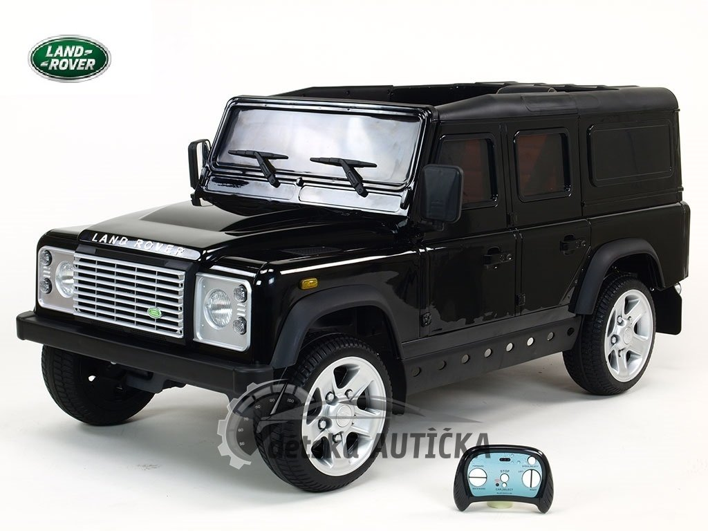 Cenová bomba! Elektrický džíp Land Rover Defender s 2,4G DO,2 klíčky,EVA koly,3 otvíracími dveřmi,USB,TF,voltmetrem,čalouněnou