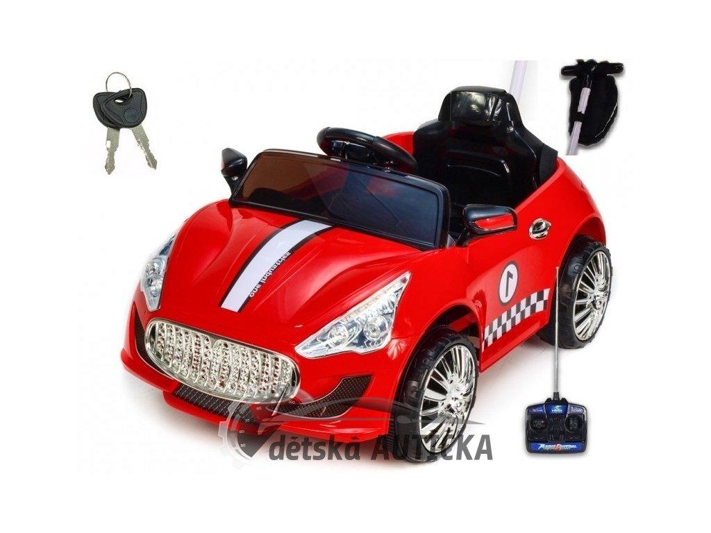 Elektrické autíčko GTR s DO, červené