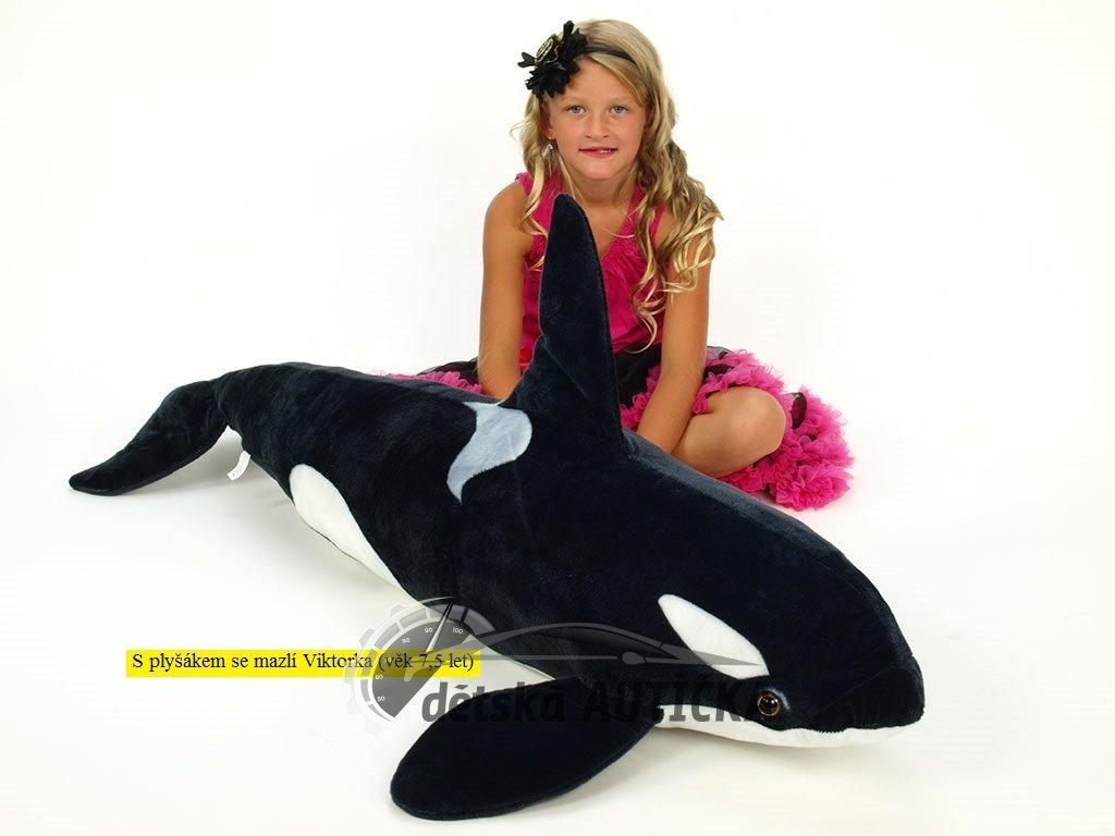 Plyšová kosatka velká, délky 130 cm