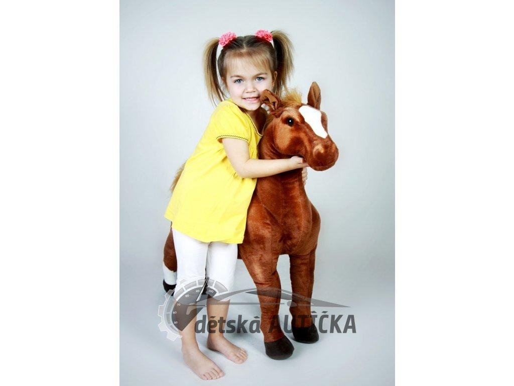 Krásný plyšový koník Hnědák, mazlíček dětí, 94cm,
