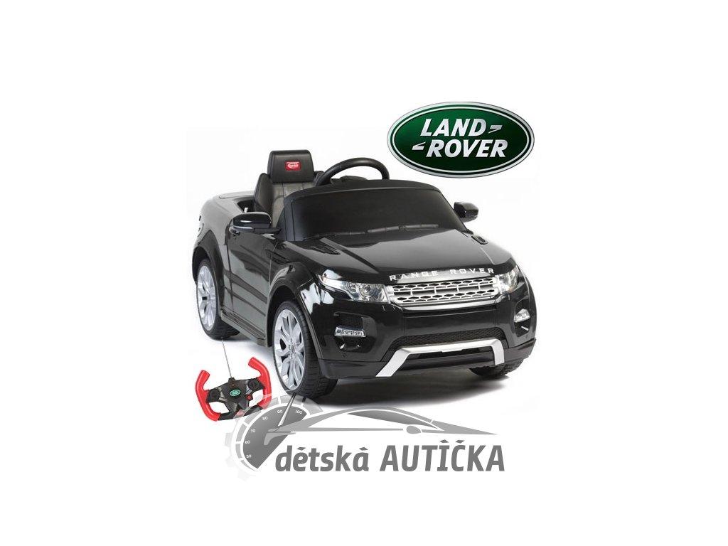 Elektrické SUV Range Rover Evoque s dálkovým ovládáním, zvukové a světelné LED efekty, 12V, černý