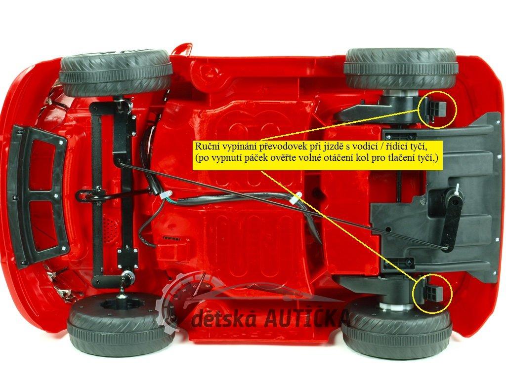 Elektrické autíčko Bavoráček xmen s 2.4G DO, plynulým rozjezdem, otvíracími dveřmi, klíčky, playerem, USB, TF, Mp3, 12V, bílý