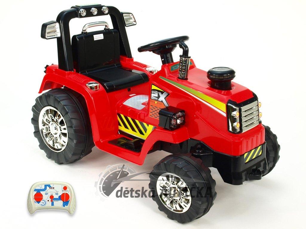 Elektrický traktor 12V s 2,4G DO, červený