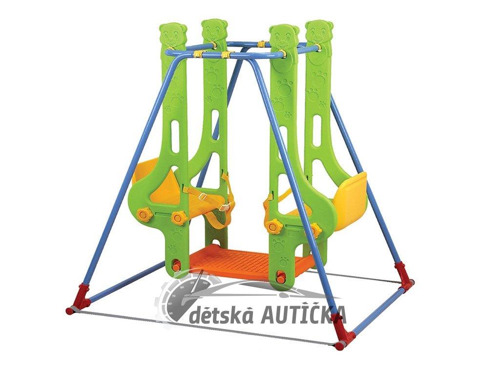 Dětská dvoumístná houpačka Double Swing s bezpečnostními pásy