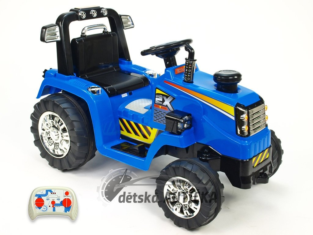 Elektrický traktor 12V s 2,4G DO, modrý