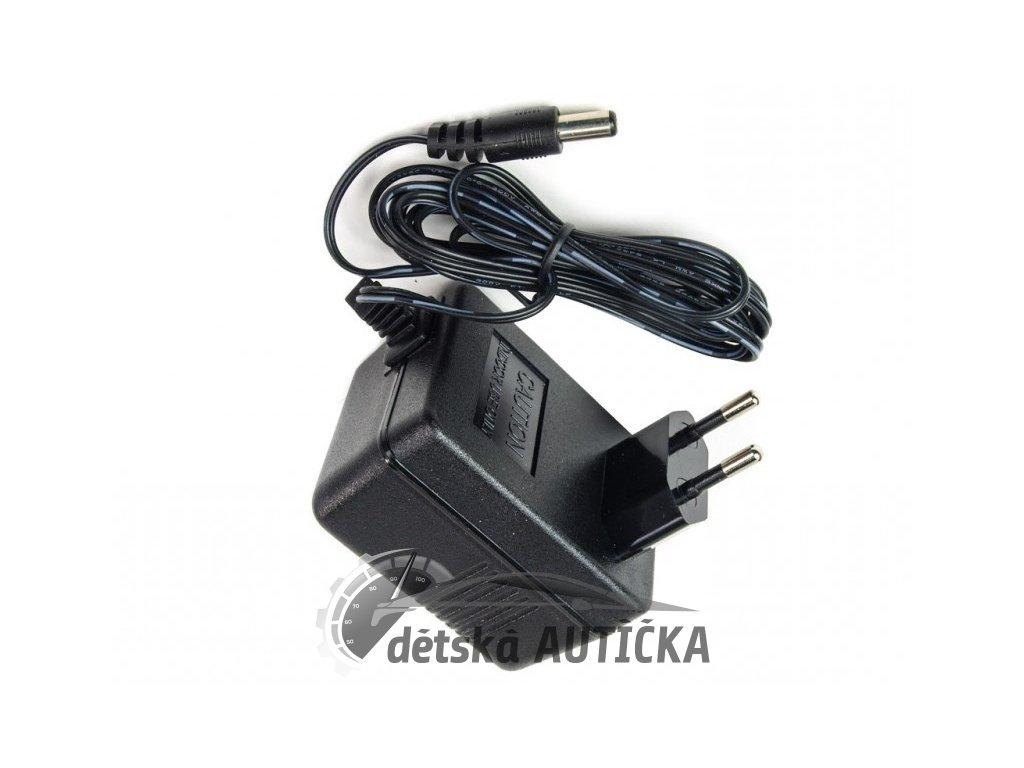 Nabíječka 6V / 500mA bez diody nabití baterie, pro 6V dětská vozítka