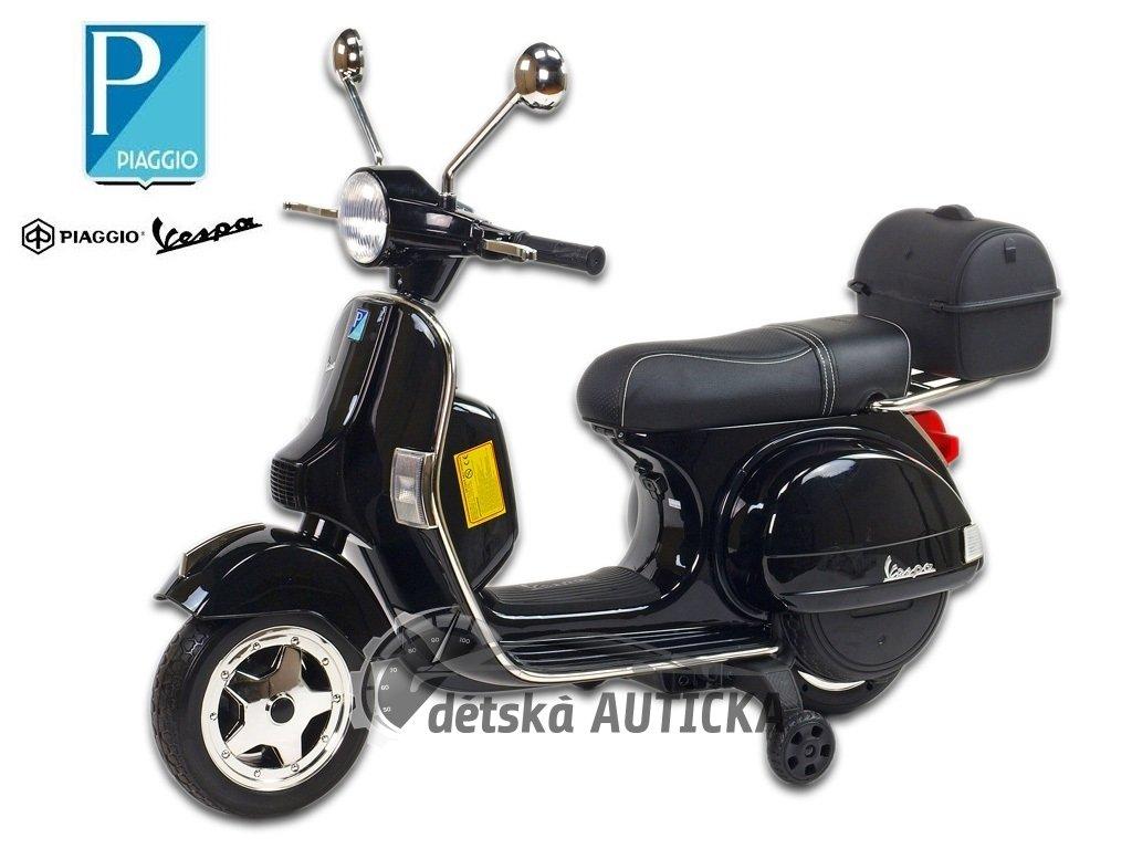 Elektrický skútr Piaggio Vespa PX150, lakovaná, černá