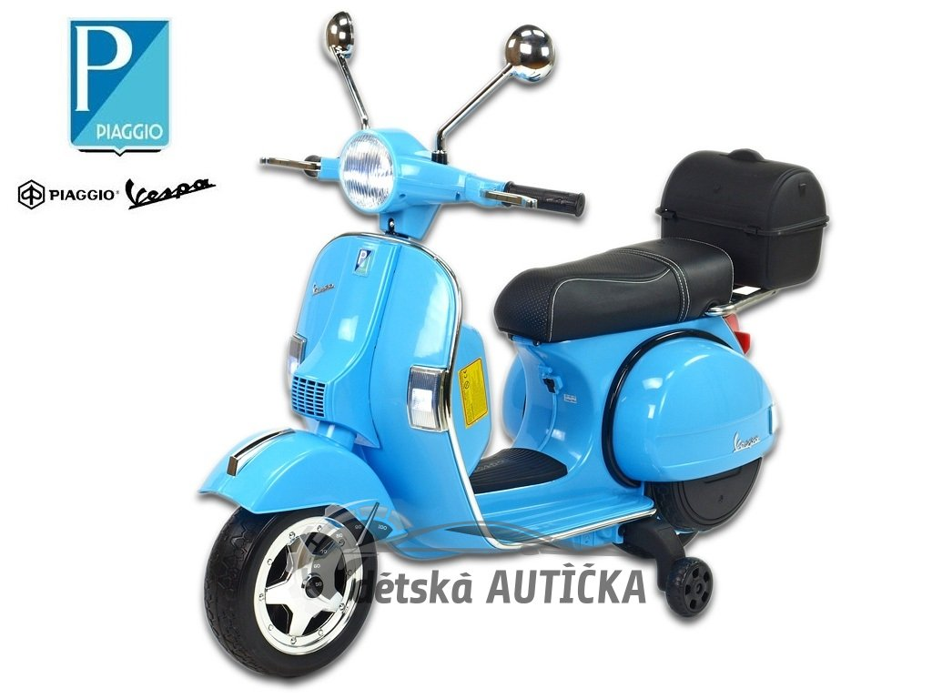 Elektrický skútr Piaggio Vespa PX150, modrá