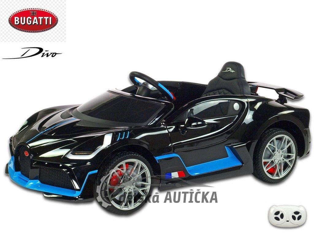 Bugatti Divo s 2.4G, luxusní sporťák, lakovaný černou metalízou