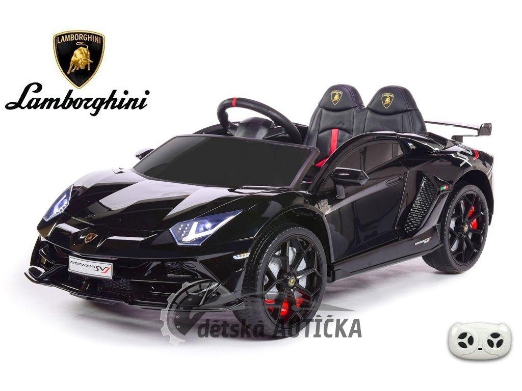 Lamborghini Aventador s 2.4G DO, výklopnými dveřmi, USB, TF, luxusní sedačkou, lakované černé