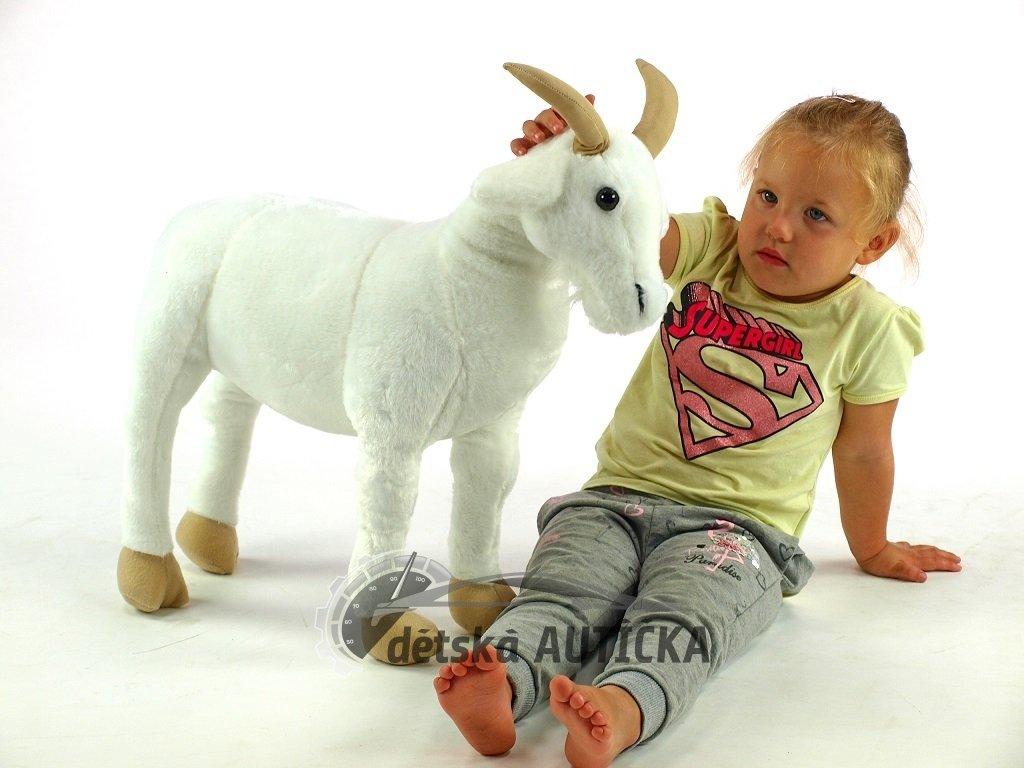 Plyšová stojící koza Líza, délky 66cm