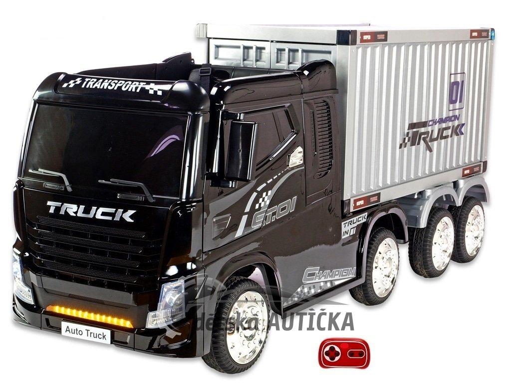 Kamion s návěsem černý 0