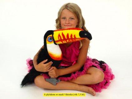 Plyšový tukan, délky 50 cm
