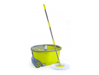 Rotační mop 360°, máchání + ždímání, pojezd na kolečkách, dávkovač saponátu, zátka pro vylévání, č. 24,