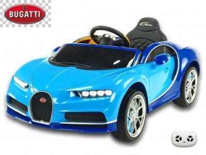 Elektrické auto Bugatti Chiron s 2.4G DO, otvíracími dveřmi, EVA koly, USB, LED osvětlení, luxusní sporťák, modrý