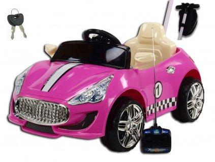 Elektrické autíčko GTR s DO, růžové