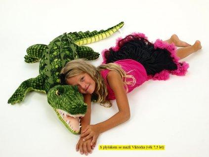 Plyšový krokodýl s otevřenou tlamou, délka 173cm