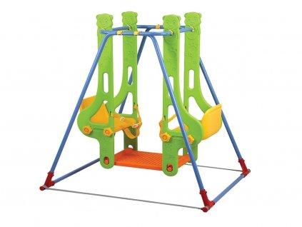 Dětská dvoumístná houpačka Double Swing s bezpečnostními pásy,
