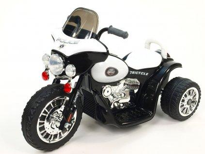 Chopper Harleyek na masivních kolech, 6V, černý
