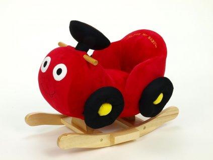 Houpací červené autíčko se zvukovými efekty