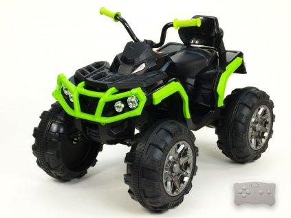 Čtyřkolka Predator s 2,4G, čalouněná sedačka, kola s pásem, zelená